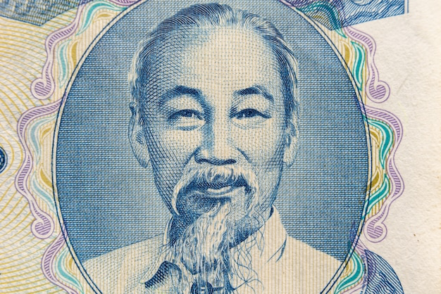 Ho chi minh portrait from vietnamese money banknote.