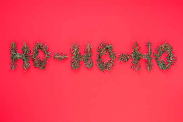 Ho ho ho inscription from branches