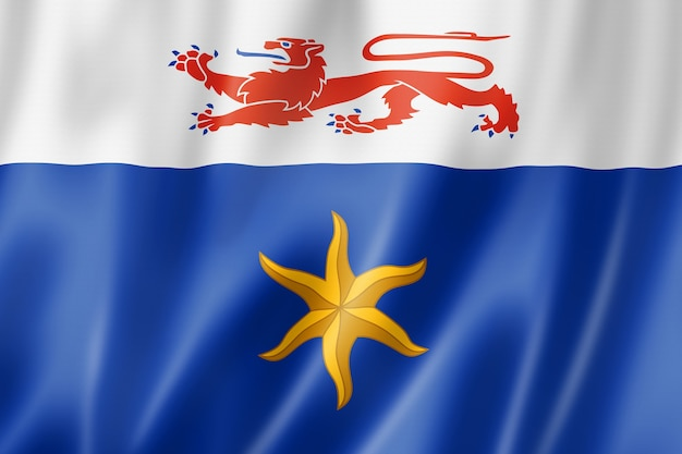 Hobart city flag, australia waving banner collection. 3d illustration