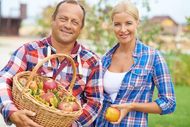 Хобби плодовых люди женщина садовник