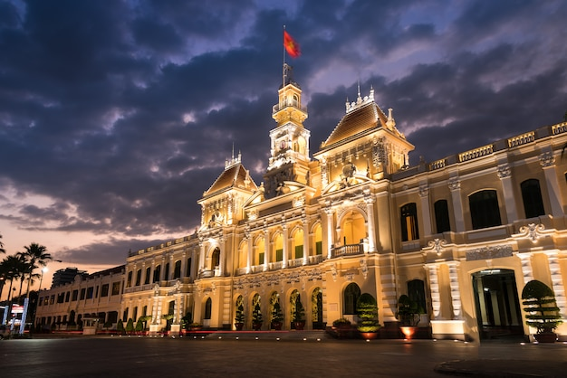 Hochiminh city hall Premium Photo