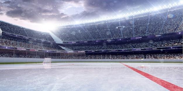 Хоккейная арена 3d визуализации