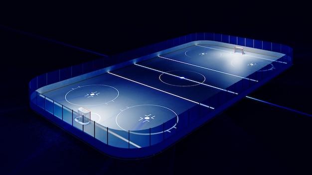 Хоккейный каток и ворота