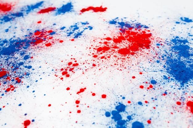 독립 기념일을 기념하는 holi 컬러 파우더 폭발