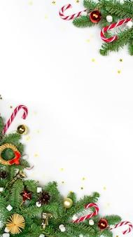 크리스마스 장식으로 휴일 평면 위치 개념
