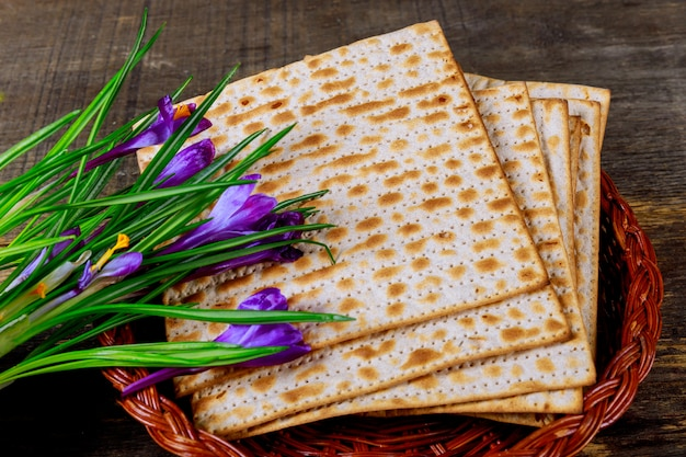 Holiday matzoth celebration matzoh jewish passover bread torah