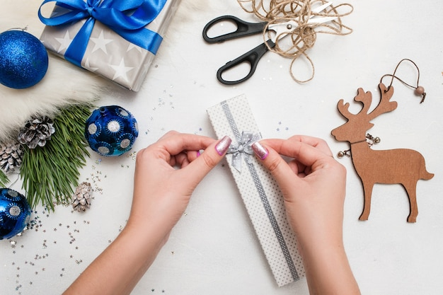 Holiday preparation. christmas and new year gift