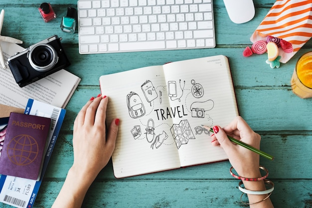 休日旅行アイコン休暇の概念