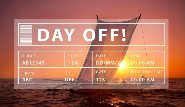 休日旅行観光リラクゼーショングラフィックコンセプト