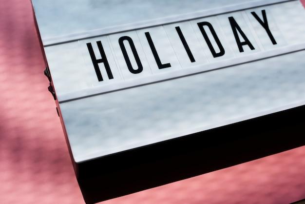 Holidays tag mockup