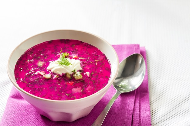 Holodnik - traditional lithuanian cold beetroot soup