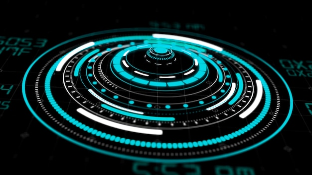 Hologram hud circle interfaces