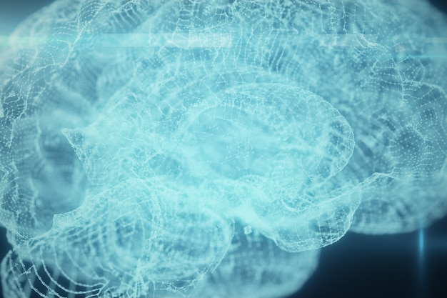 Hologram of human brain
