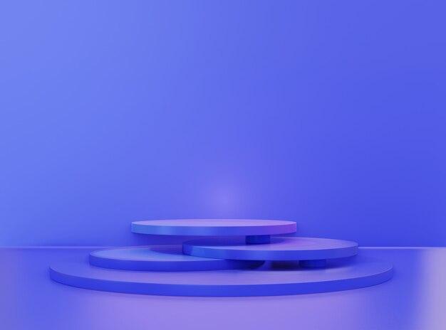 홀로그램 3d 모양 또는 기하학적 연단