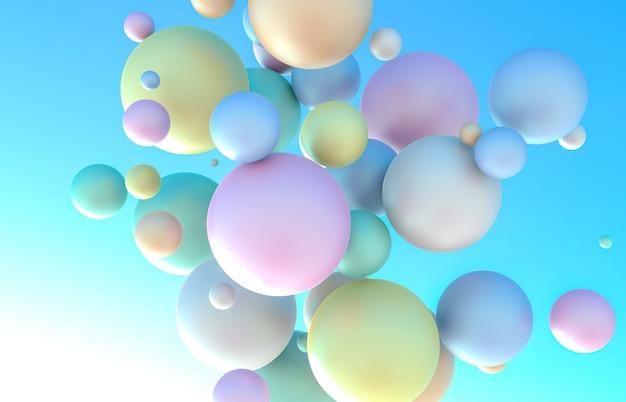 Holographic geometric floating liquid soap bubbles
