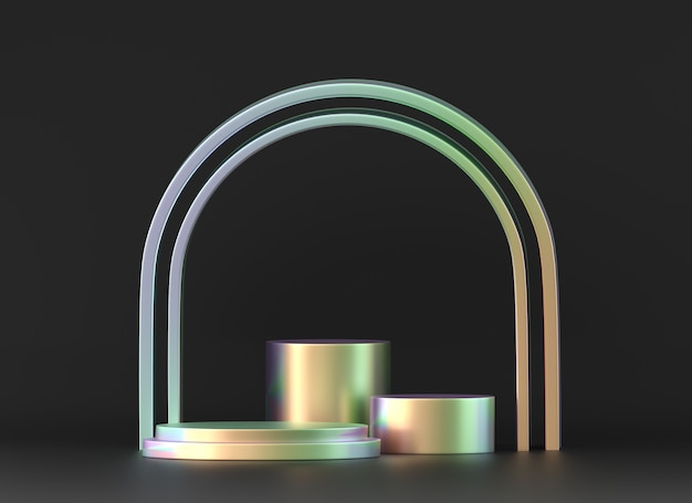 ホログラフィックオブジェクト表彰台プラットフォーム製品ショーケース3dレンダリング