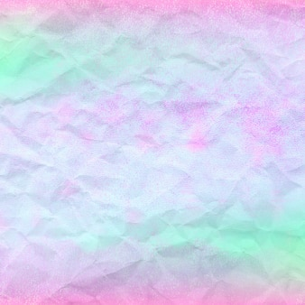 Holographic pattern with crumpled paper background