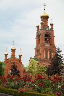 Holosiivskyiメンズ修道院ウクライナキエフ。宗教キリスト教正統派文化