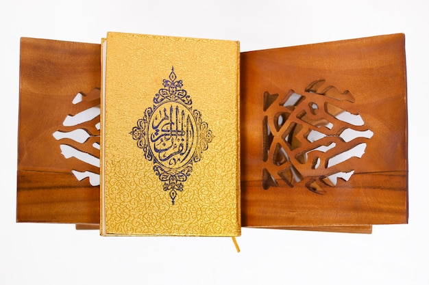 Holy book quran isolated on white background