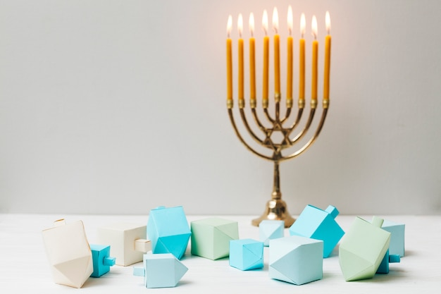 Holy hanukkah candlestick holder