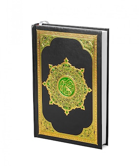 The holy quran over white