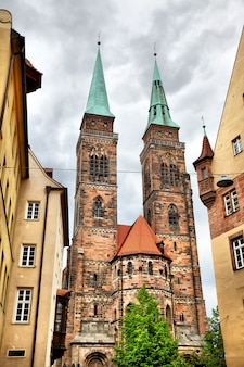 Церковь святого себальда в нюрнберге, германия