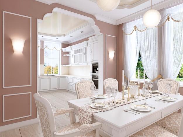 バーガンディと白の色のモダンなスタイルの屋根裏部屋のホームシネマ。 3dレンダリング