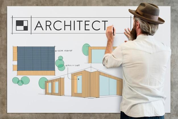 Costruzione di architettura di stile di rinnovamento della decorazione domestica