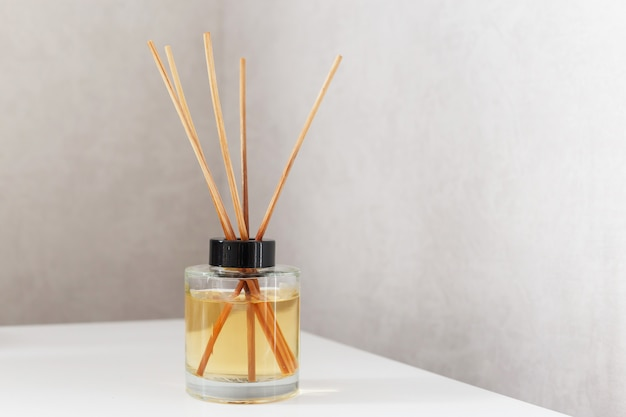 Home fragrance with bamboo sticks