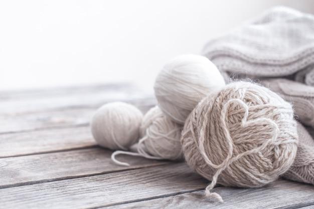 Home hobbies, knitting threads