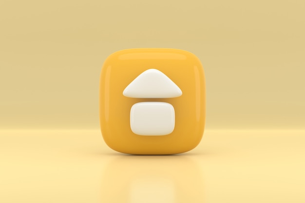 홈 아이콘 디자인. 3d 렌더링.