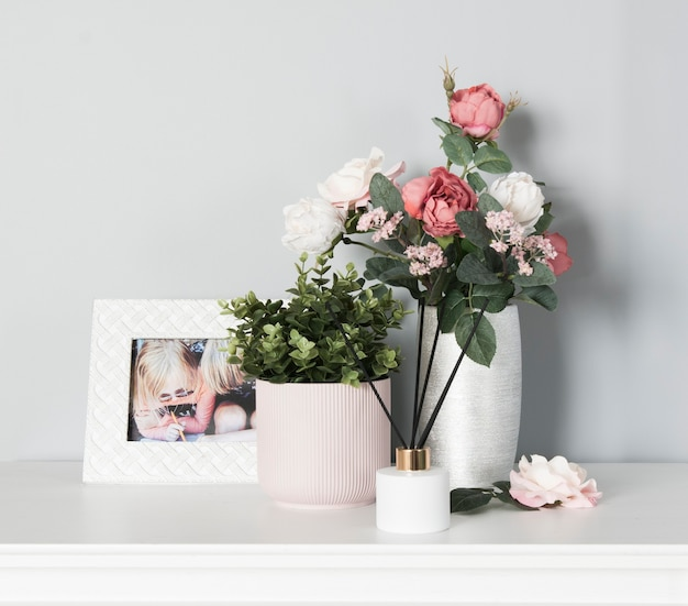Набор украшений для дома с цветочными горшками и фоторамкой