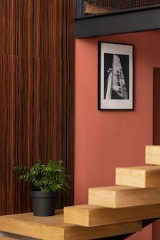 ホーム インテリア デザインの階段
