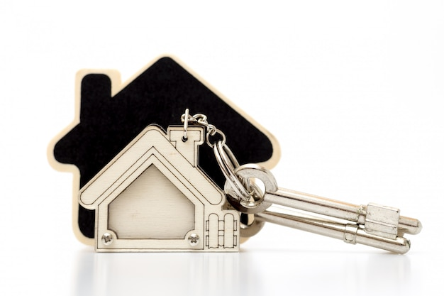 Home key on tabel. concept for real estate busines.