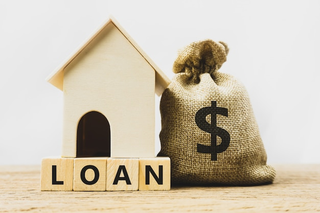 Home loan, mortgage, home insurance, financial mortgage for house concept.