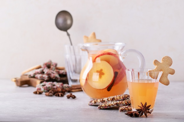 Home made apple punch