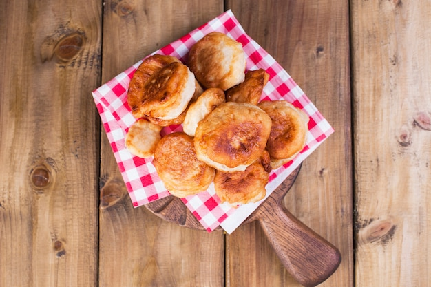 Home-made baking sugar powder. banner. copy space. traditional dutch sweets. wooden ; from above