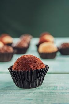 Домашние бразильские шоколадные конфеты trufa