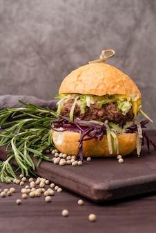 Home made delicious and big hamburger