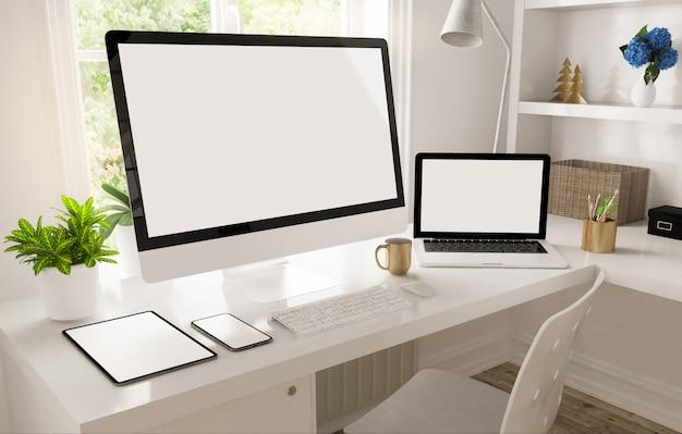 Рабочий стол домашнего офиса
