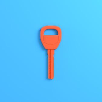 Ключ от дома или автомобиля на ярко-синем фоне