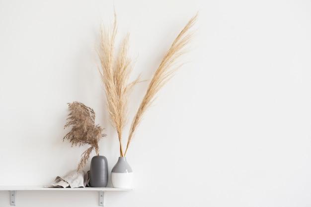 복사 공간이 있는 가정 식물 장식 배열