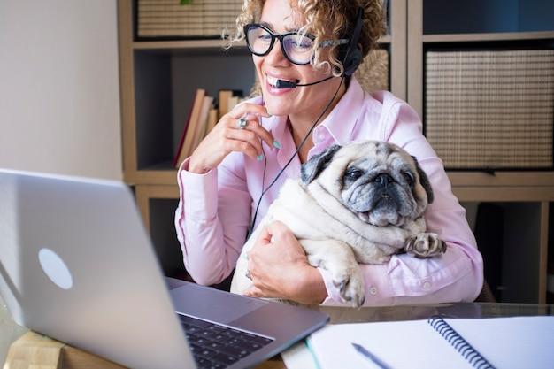 Home smart working people job business activity