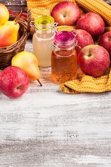 Homemade apple pear cider
