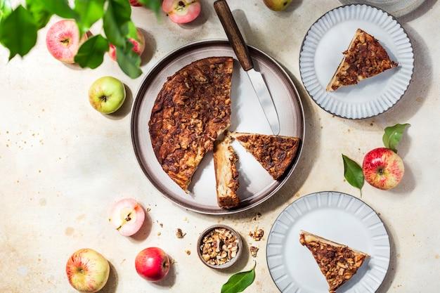 クラフティ風の自家製アップルパイ