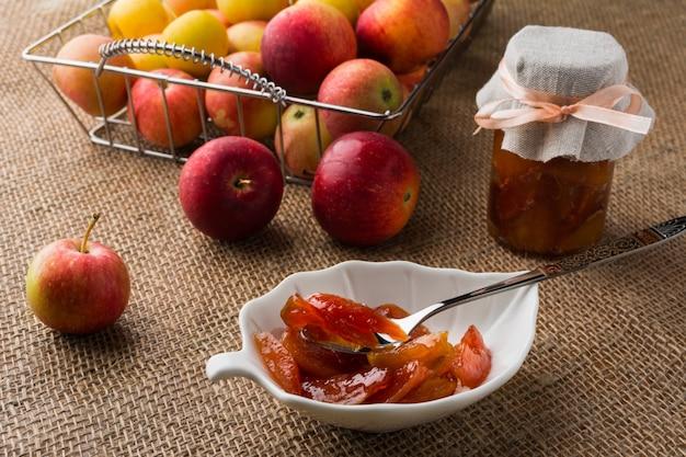 Homemade apple slices marmalade