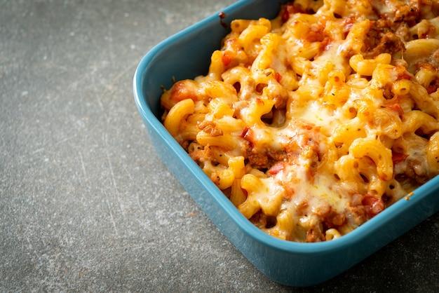 Домашние макароны болоньезе с сыром - итальянская кухня