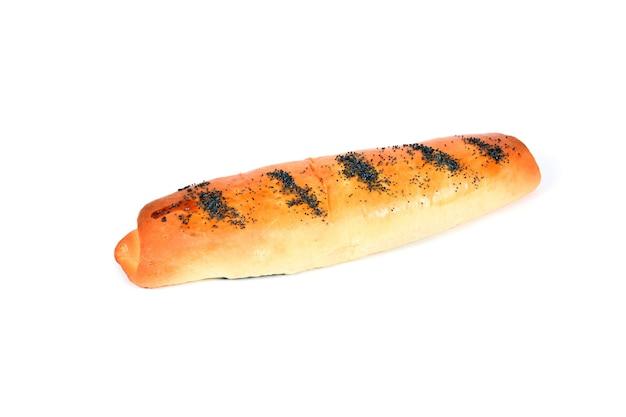 Homemade baking rolls on white background