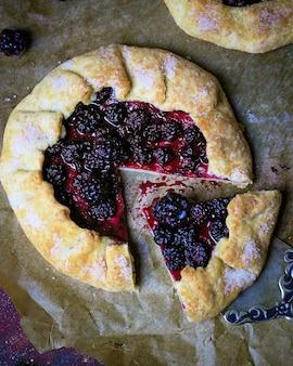 Homemade blackberry galette