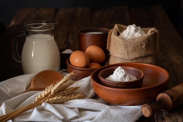Концепция домашнего хлеба в домашней пекарне